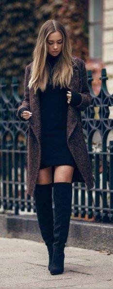 Chouette-robe-noir-chic-tenue-chic-beauté-et-mode-automne-hiver-2015-2016